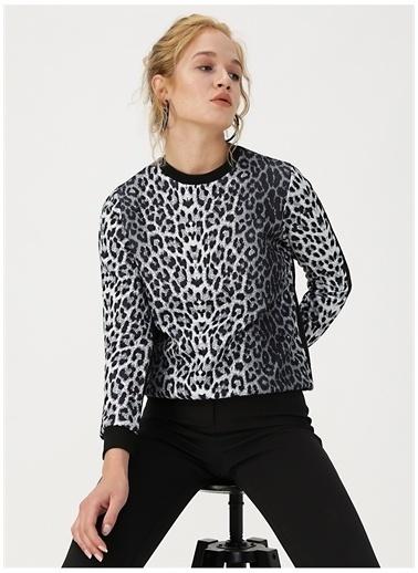 Fashion Friends Desenli Sweatshirt  Gri
